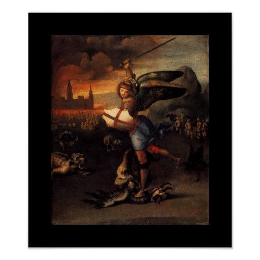 St MICHAEL AND THE DRAGON Poster