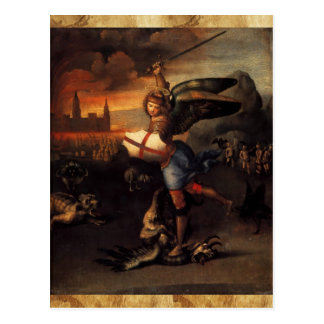 St Michael and the Dragon  Prayer Card