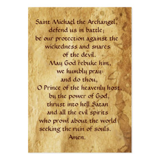St.Michael and the Dragon  Prayer Card Large Business Cards (Pack Of 100)
