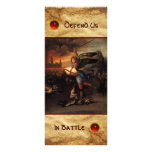 St Michael and the Dragon  Prayer Card Custom Rack Cards