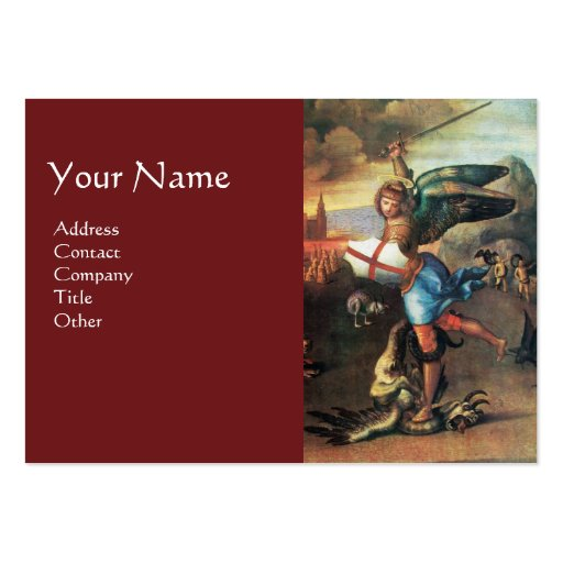 St Michael and the Dragon , Red Business Card