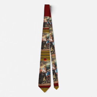 St MICHAEL AND THE DRAGON, Ruby Neck Tie