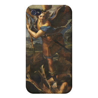 St. Michael and the Satan - Raphael iPhone 4 Cases