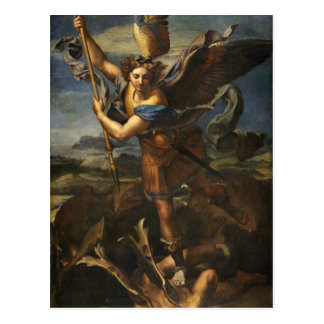 St. Michael and the Satan - Raphael Postcard