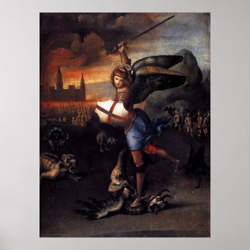 St Michael Angel poster