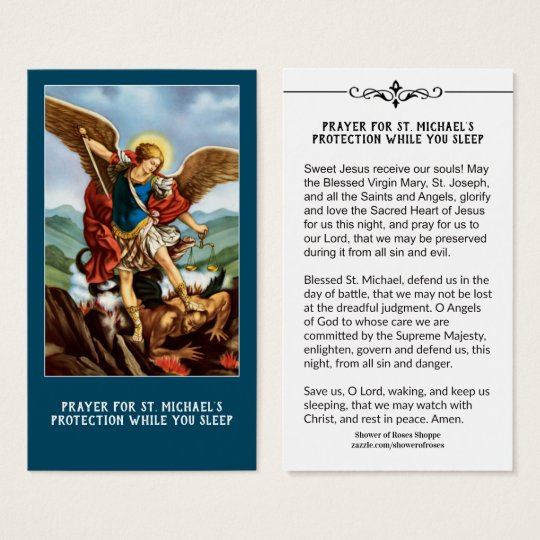 St. Michael Archangel Protection Catholic Prayer | Zazzle.com