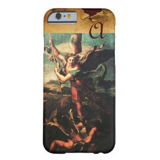 St MICHAEL ARCHANGEL VANGUISHING SATAN Monogram Barely There iPhone 6 Case
