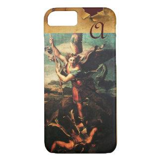 St MICHAEL ARCHANGEL VANGUISHING SATAN Monogram iPhone 7 Case