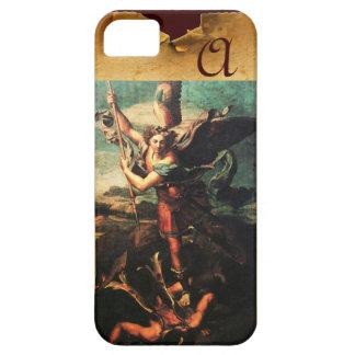 St MICHAEL ARCHANGEL VANGUISHING SATAN Monogram iPhone SE/5/5s Case