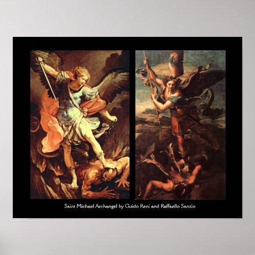 St MICHAEL ARCHANGEL VANGUISHING SATAN Poster
