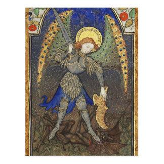 St MICHAEL ARCHANGEL WITH DEVIL Postcard