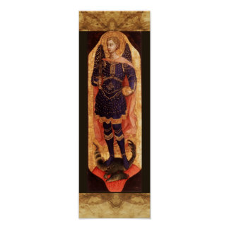 St MICHAEL ARCHANGEL WITH DEVIL Poster
