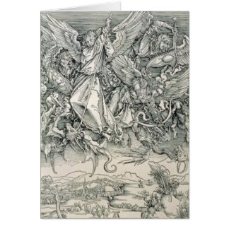 St. Michael Battling with the Dragon Card