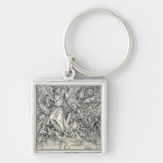 St. Michael Battling with the Dragon Keychain