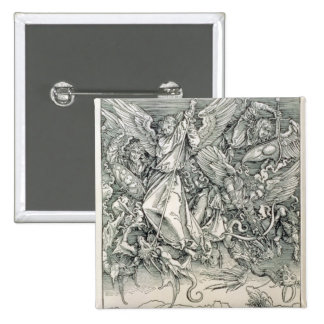 St. Michael Battling with the Dragon Pinback Button