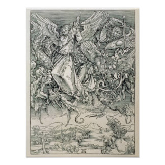 St. Michael Battling with the Dragon Poster