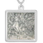 St. Michael Battling with the Dragon Silver Plated Necklace