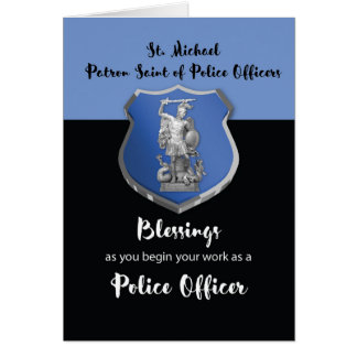 St. Michael Blessings to New Police Officer Card