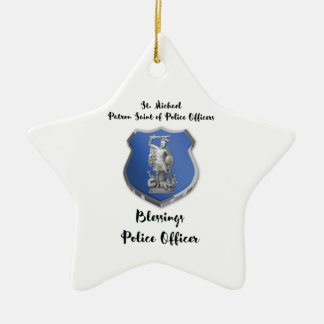St. Michael Blessings to New Police Officer Ceramic Ornament