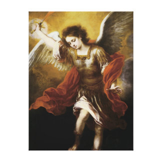 St Michael by Murillo Canvas Print