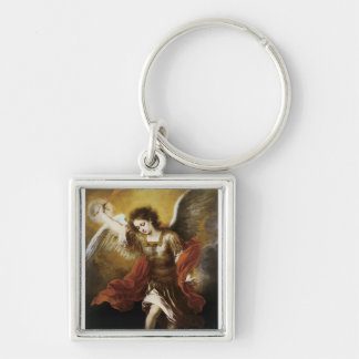 St Michael by Murillo Keychains