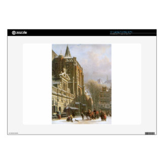 """St. Michael Church in Zwolle by Cornelis Springer 15"""" Laptop Skins"""