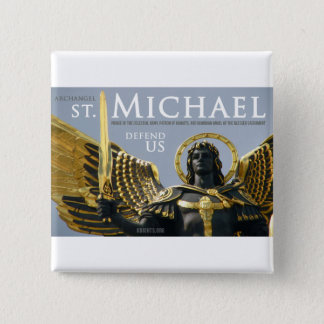 St Michael Defend Us in Battle Pinback Button