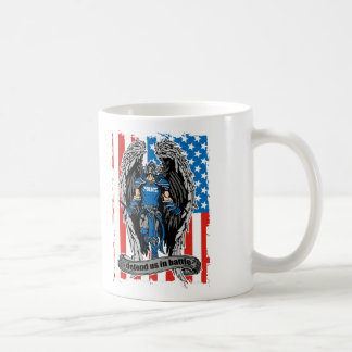 St. Michael Defend Us in Battle Police Coffee Mug