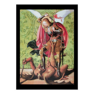 ST. MICHAEL ,DRAGON AND JUSTICE POSTER