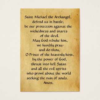 ST. MICHAEL ,DRAGON AND JUSTICE Prayer Card