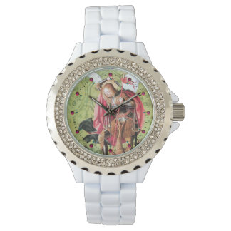 ST. MICHAEL ,DRAGON AND JUSTICE WRIST WATCH