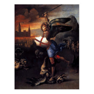 St Michael & Dragon Raphael Postcard