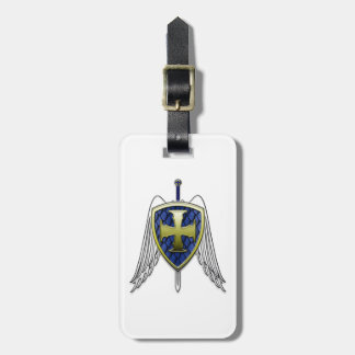 St Michael - Dragon Scale Shield Bag Tag