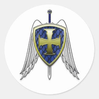St Michael - Dragon Scale Shield Classic Round Sticker