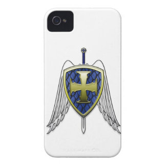 St Michael - Dragon Scale Shield iPhone 4 Covers