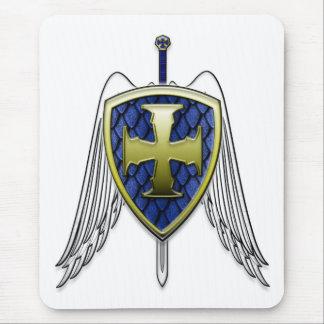 St Michael - Dragon Scale Shield Mouse Pad
