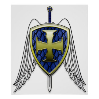 St Michael - Dragon Scale Shield Poster