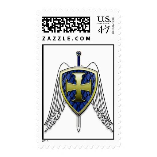 St Michael - Dragon Scale Shield Stamp