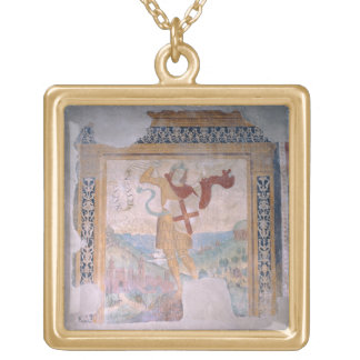 St. Michael (fresco) Gold Plated Necklace