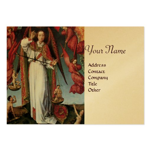 ST. MICHAEL IN THE LAST JUDGEMENT Gold Metallic Business Card
