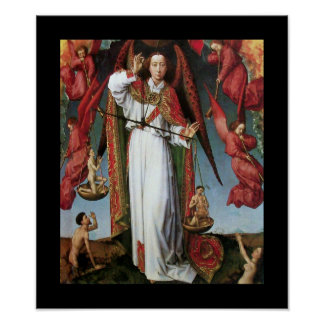 ST. MICHAEL IN THE LAST JUDGEMENT POSTER