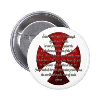 St Michael - Iron Cross Pinback Button