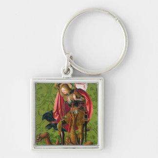 St. Michael Killing the Dragon Keychain
