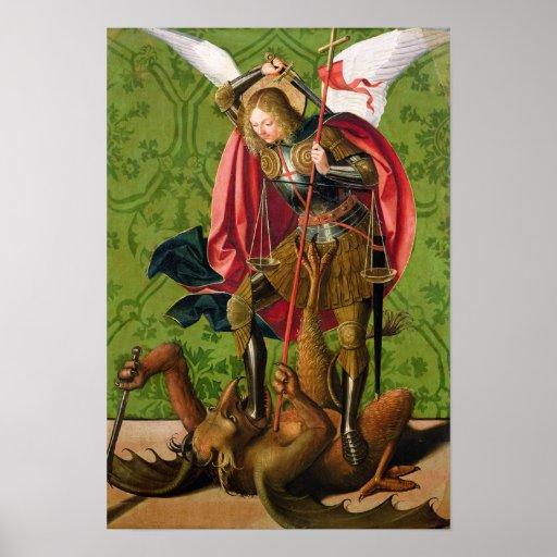 St. Michael Killing the Dragon Posters