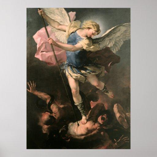St. Michael, Luca Giordano (Fa Presto) Posters