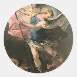 St. Michael, Luca Giordano (Fa Presto) Classic Round Sticker