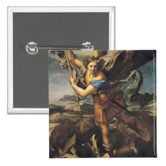 St. Michael Overwhelming the Demon, 1518 2 Inch Square Button