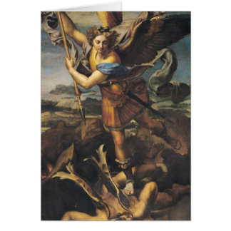 St. Michael Overwhelming the Demon, 1518 Card