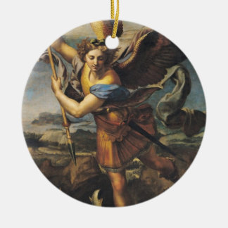 St. Michael Overwhelming the Demon, 1518 Ceramic Ornament