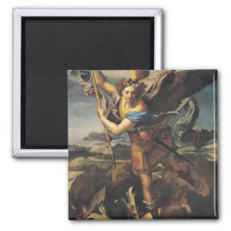 St. Michael Overwhelming the Demon, 1518 Magnet